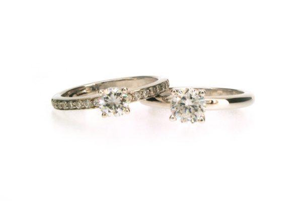 Round Brilliant Cut Diamond Platinum Engagement Rings by Robert Feather Jewellery