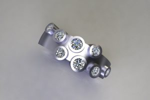 Multi Set Brilliant Cut Diamond by Robert Feather JewelleryPlatinum Ring Design