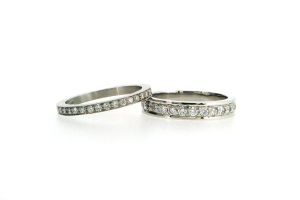 Diamond Platinum Wedding & Eternity Rings by Robert Feather Jewellery