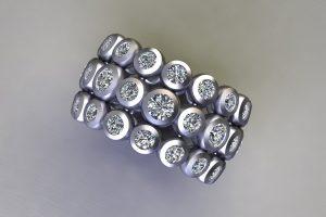 Diamond Set Platinum Ring Design by Robert Feather Jewellery