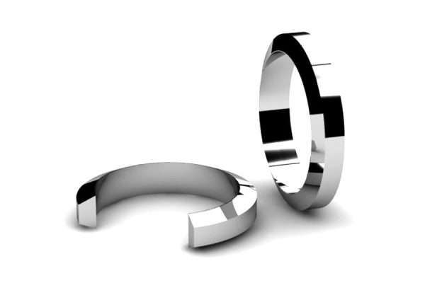 Bevel Section Wedding Ring Designs by Robert Feather Jewellery