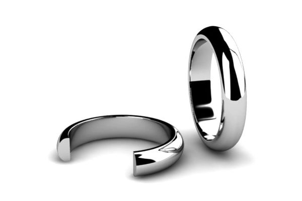 D-Section Wedding Ring Designs by Robert Feather Jewellery