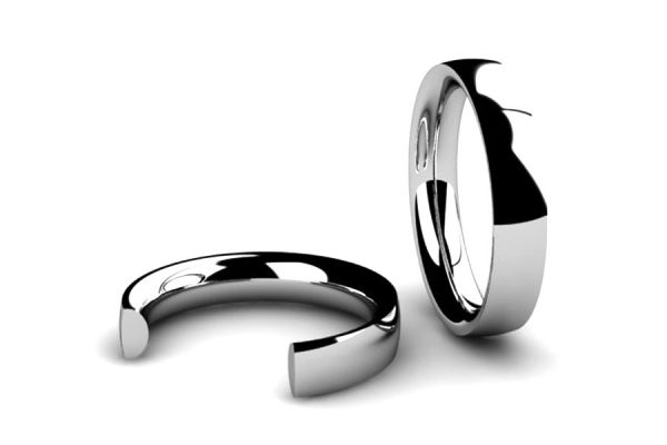 Inverted Section Wedding Ring Designs by Robert Feather Jewellery