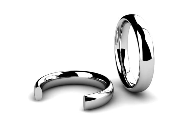 Oval Section Wedding Ring Designs by Robert Feather Jewellery