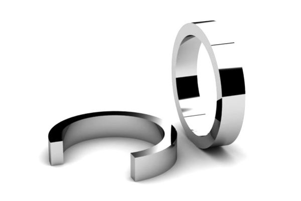 Rectangular Section Wedding Ring Designs by Robert Feather Jewellery