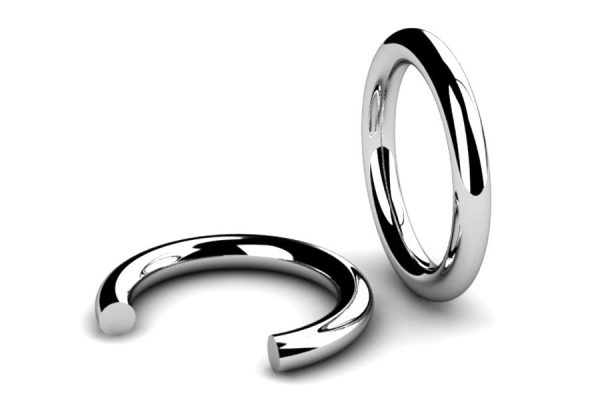 Round Section Wedding Ring Designs by Robert Feather Jewellery