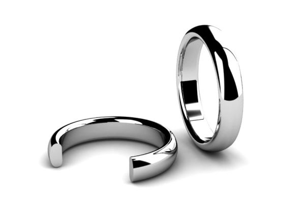 Rounded Barrel Section Wedding Ring Designs by Robert Feather Jewellery