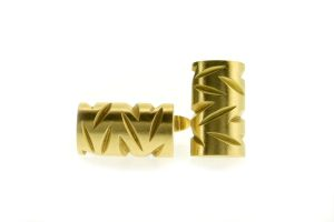 Notch Design 18ct Gold Cufflinks by Robert Feather Jewellery