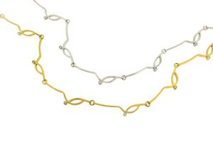Frame Design Diamond 18ct Gold Necklaces by Robert Feather Jewellery