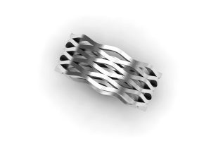 Harmonic Design Platinum Ring by Robert Feather Jewellery