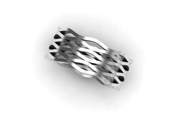 Harmonic Design Platinum Ring by Robert Feather Jewellery