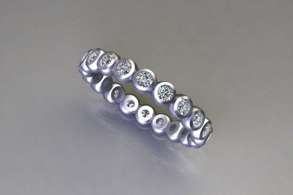 Round Brilliant Cut Diamond Platinum Ring Design by Robert Feather Jewellery