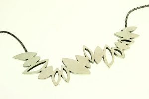 Marquise Design Silver Necklace by Robert Feather Jewellery