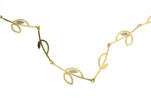 Frame Design 18ct Coloured Gold Linked Necklace by Robert Feather Jewellery