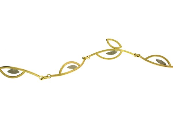 Frame Design 18ct Gold Linked Bracelet by Robert Feather Jewellery