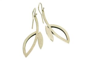 Frame Design Silver Earrings by Robert Feather Jewellery