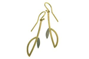 Frame Design 18ct Gold Earrings by Robert Feather Jewellery