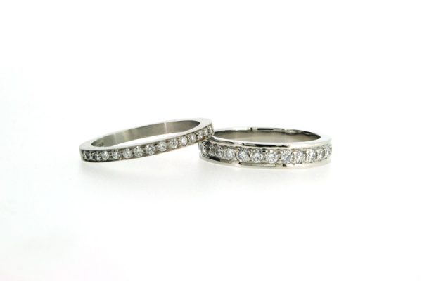 Diamond Platinum Wedding & Eternity Rings by Robert Feather Jewellery