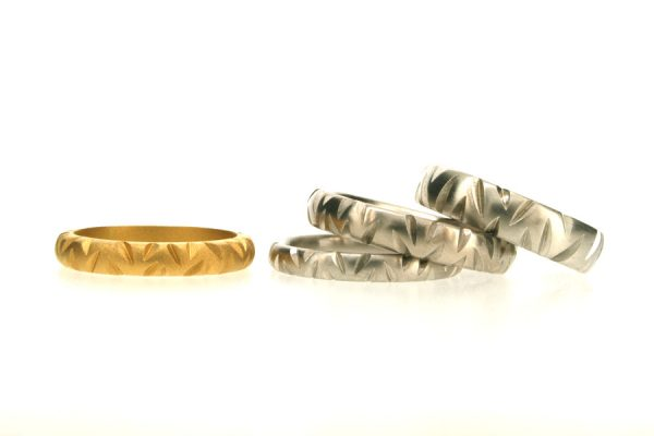 22ct Gold & Platinum Wedding Rings by Robert Feather Jewellery