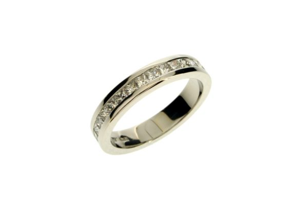 Princess Cut Diamond Platinum Eternity Ring by Robert Feather Jewellery