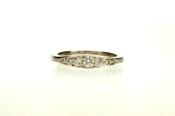 Diamond Set Platinum Ring by Robert Feather Jewellery