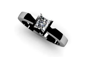 Princess Cut Diamond Platinum Ring by Robert Feather Jewellery