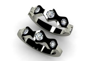 Round Brilliant Cut Diamond Set Platinum Ring Designs by Robert Feather Jewellery