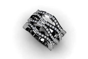 Diamond Set Platinum Eternity Ring Design by Robert Feather Jewellery