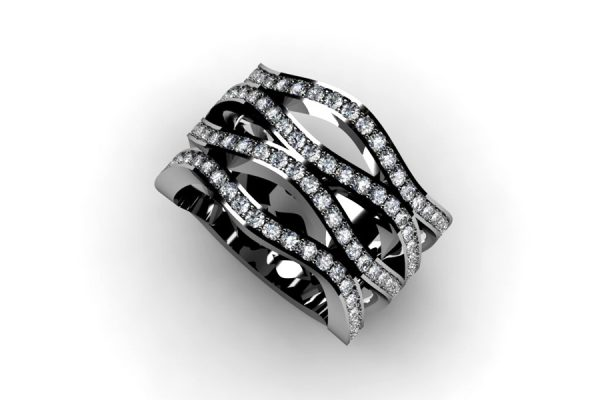 Diamond Set Platinum Eternity Ring Design by Robert Feather Jewellery