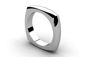 Four Sided Platinum Ring Design by Robert Feather Jewellery