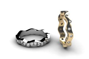 Platinum & 18ct Gold Diamond Set Eternity & Wedding Ring Designs by Robert Feather Jewellery