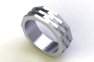 Ten Sided Platinum Ring Design by Robert Feather Jewellery