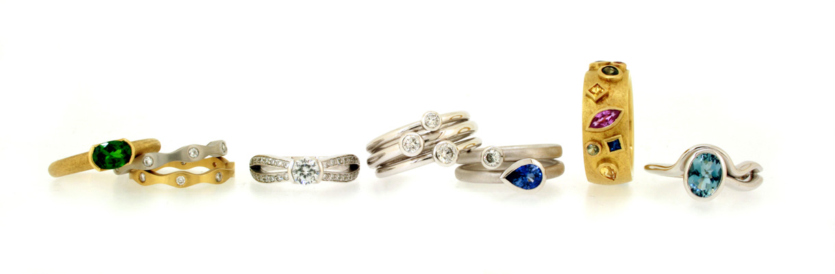 Bespoke Rings Designed & Made by Robert Feather