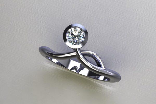 Diamond Platinum Ring Design by Robert Feather Jewellery